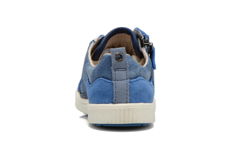 Baskets Kickers Zigzaguer Bleu vue droite