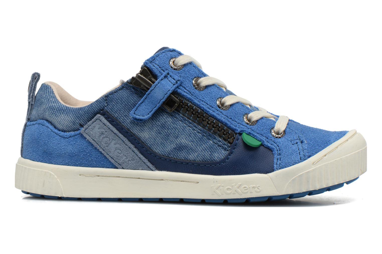 Sneakers Kickers Zigzaguer Blauw achterkant