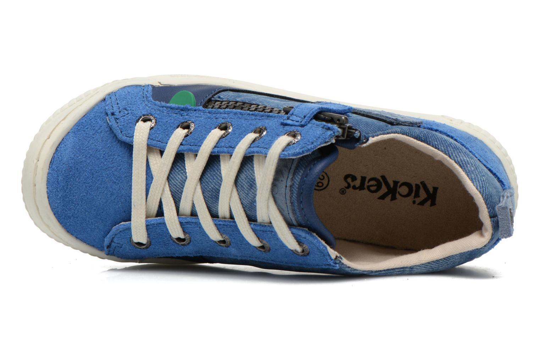 Baskets Kickers Zigzaguer Bleu vue gauche