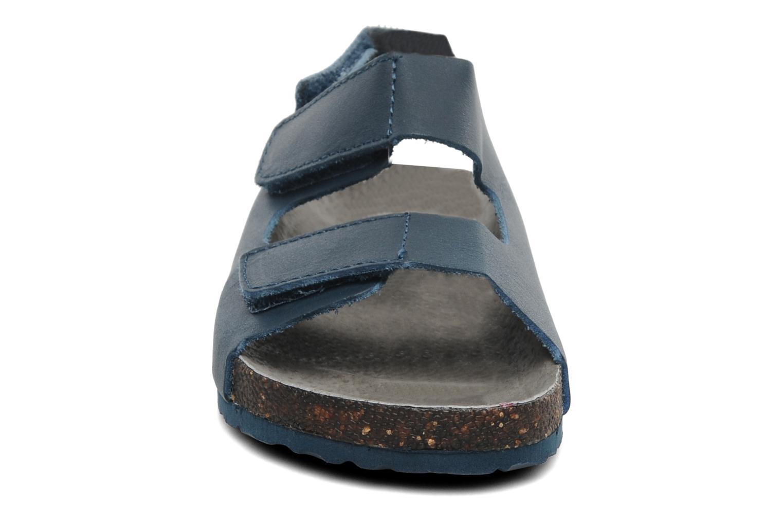 Sandales et nu-pieds Kickers Magiboy Bleu vue portées chaussures