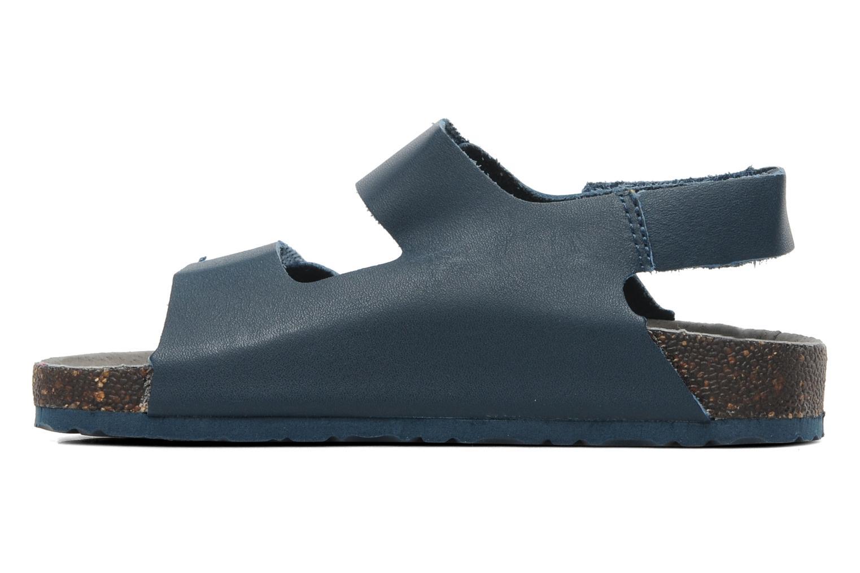 Sandales et nu-pieds Kickers Magiboy Bleu vue face