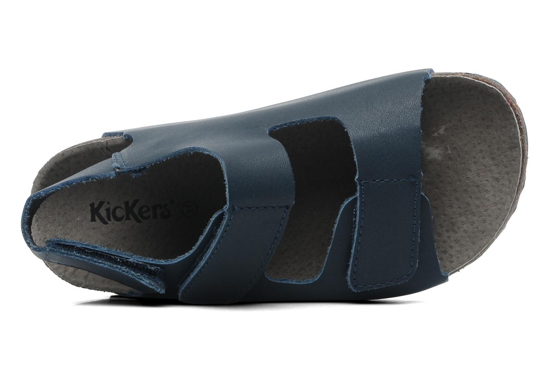 Sandalen Kickers Magiboy Blauw links