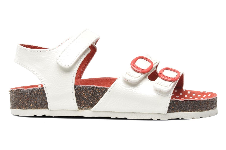 Sandalen Kickers Magipop weiß ansicht von hinten