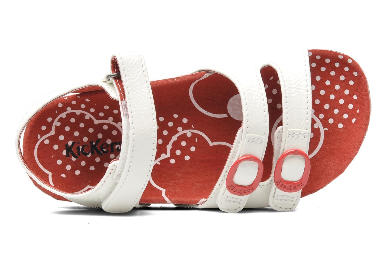 Sandalen Kickers Magipop weiß ansicht von links