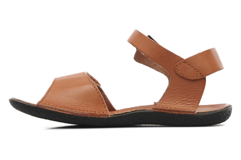 Sandales et nu-pieds Kickers Pepsi Marron vue face
