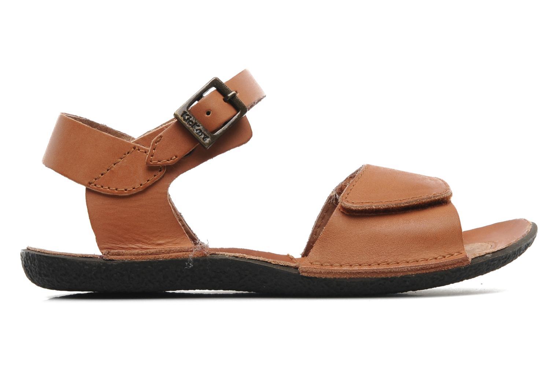 Sandales et nu-pieds Kickers Pepsi Marron vue derrière