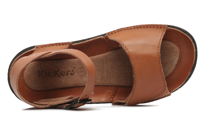 Sandales et nu-pieds Kickers Pepsi Marron vue gauche