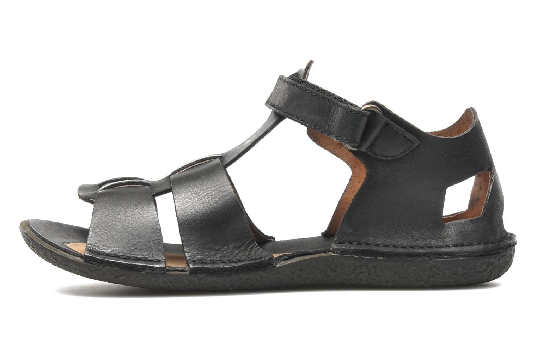 Sandales et nu-pieds Kickers Pipo Noir vue face