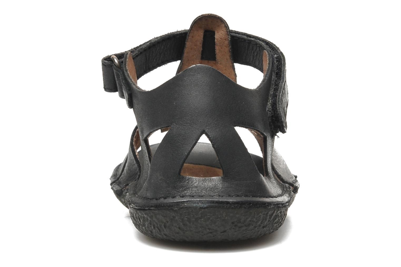 Sandales et nu-pieds Kickers Pipo Noir vue droite