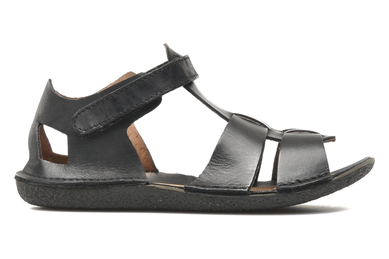 Sandalen Kickers Pipo schwarz ansicht von hinten