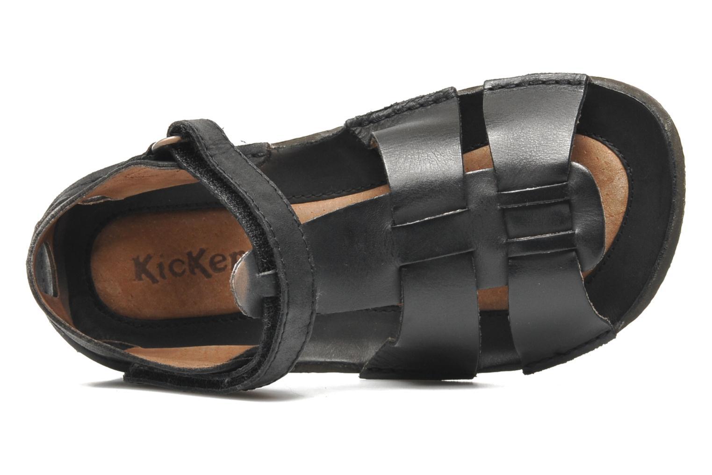 Sandalen Kickers Pipo schwarz ansicht von links