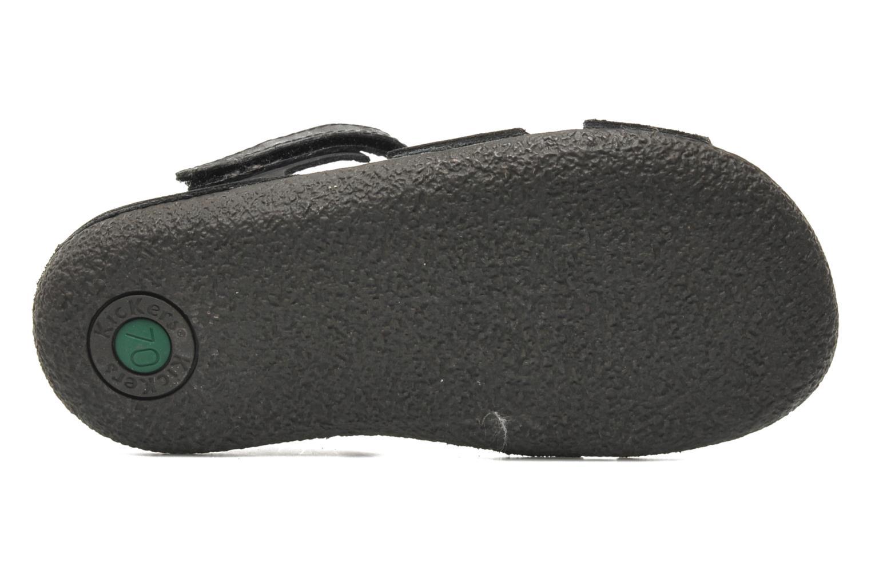 Sandales et nu-pieds Kickers Pipo Noir vue haut