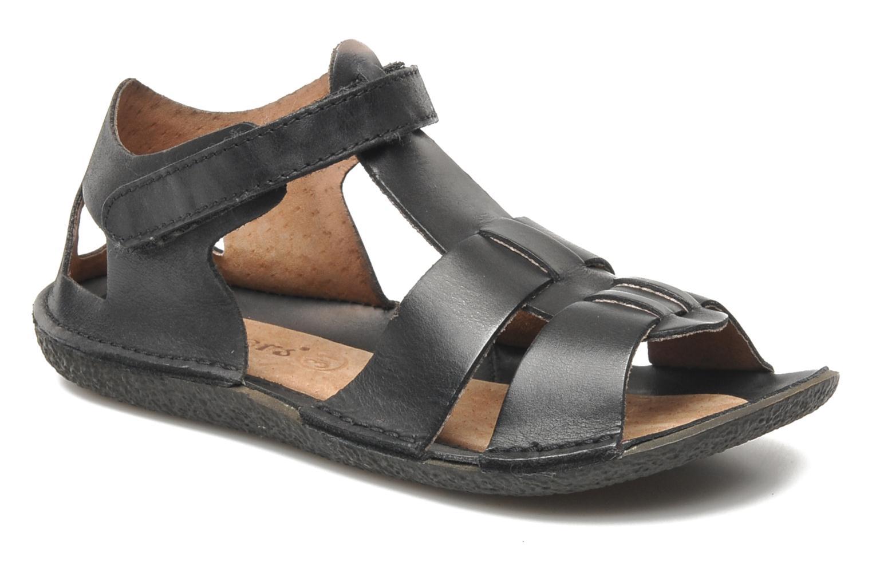 Sandales et nu-pieds Kickers Pipo Noir vue détail/paire