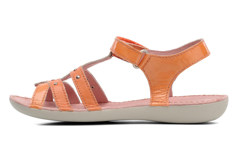 Sandales et nu-pieds Kickers Esmeralda Orange vue face