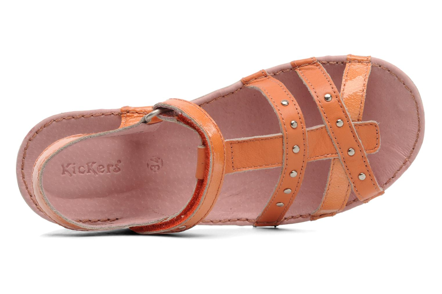 Sandalen Kickers Esmeralda orange ansicht von links