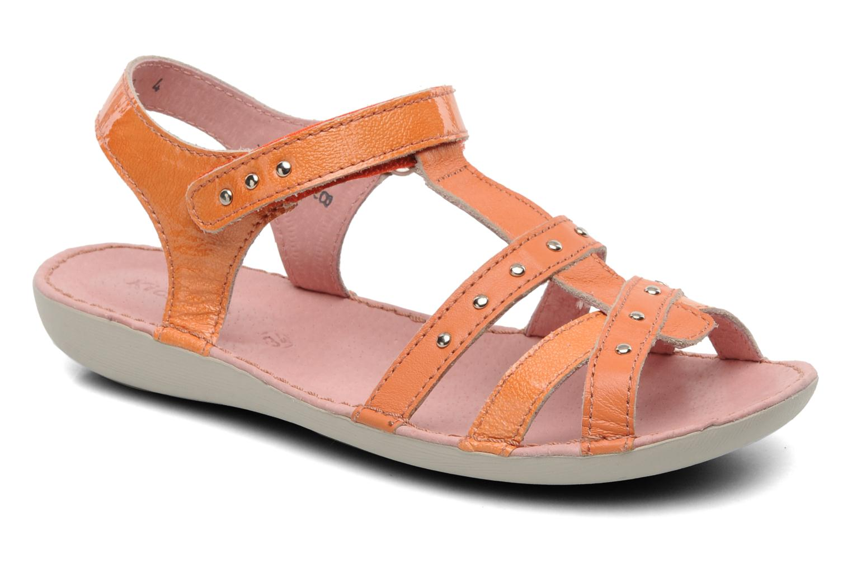 Sandales et nu-pieds Kickers Esmeralda Orange vue détail/paire