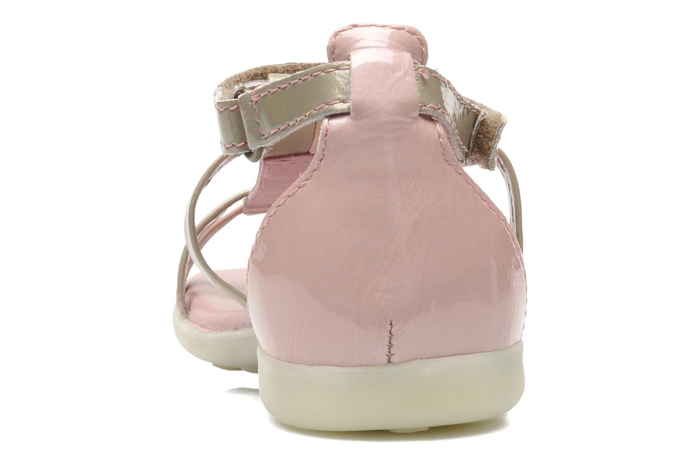 Sandales et nu-pieds Kickers Ariane Rose vue droite