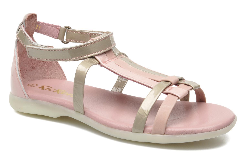 Sandales et nu-pieds Kickers Ariane Rose vue détail/paire