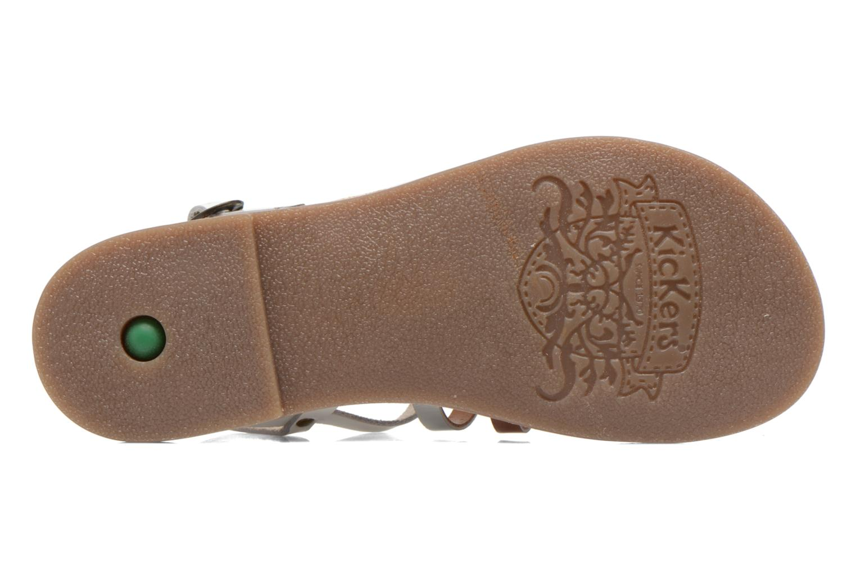 Sandales et nu-pieds Kickers Dixmillion Blanc vue haut