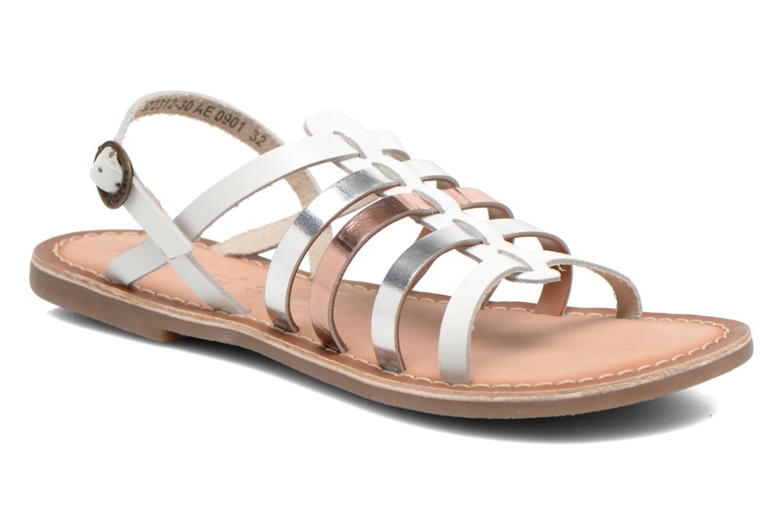 Sandaler Kickers Dixmillion Hvid detaljeret billede af skoene