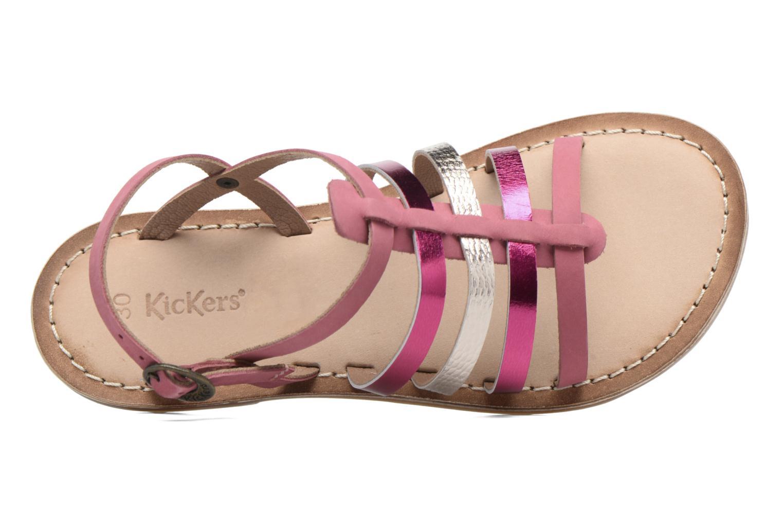 Sandaler Kickers Dixmillion Pink se fra venstre