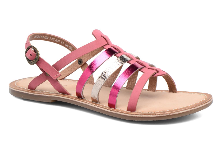 Sandaler Kickers Dixmillion Pink detaljeret billede af skoene