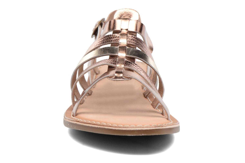 Sandales et nu-pieds Kickers Dixmillion Or et bronze vue portées chaussures