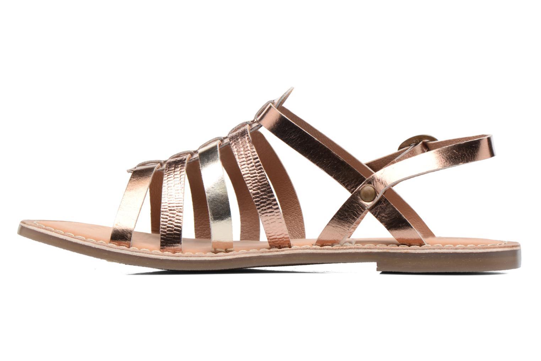 Sandales et nu-pieds Kickers Dixmillion Or et bronze vue face