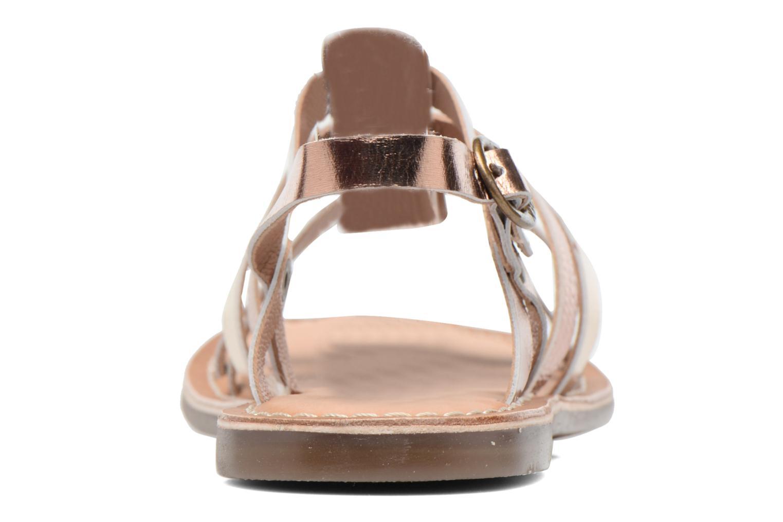 Sandales et nu-pieds Kickers Dixmillion Or et bronze vue droite