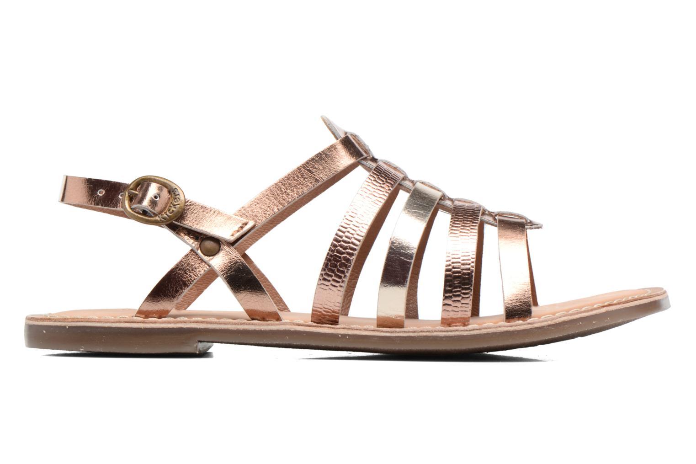Sandales et nu-pieds Kickers Dixmillion Or et bronze vue derrière