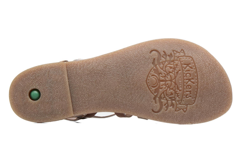 Sandales et nu-pieds Kickers Dixmillion Or et bronze vue haut