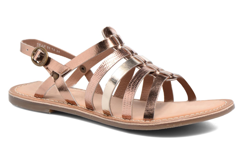 Sandales et nu-pieds Kickers Dixmillion Or et bronze vue détail/paire