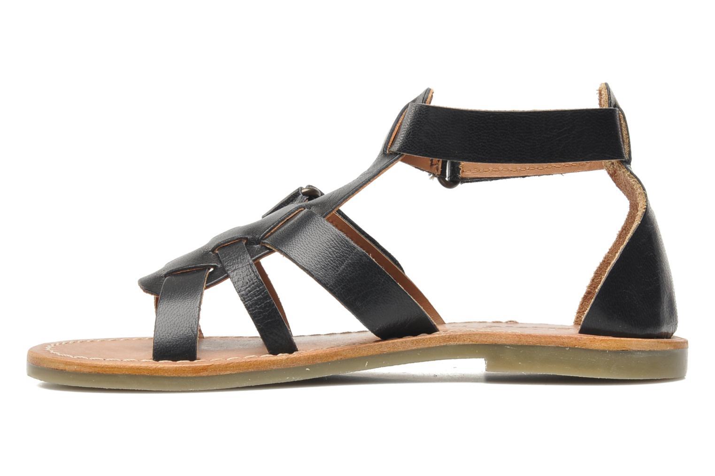 Sandalen Kickers Djack E Zwart voorkant
