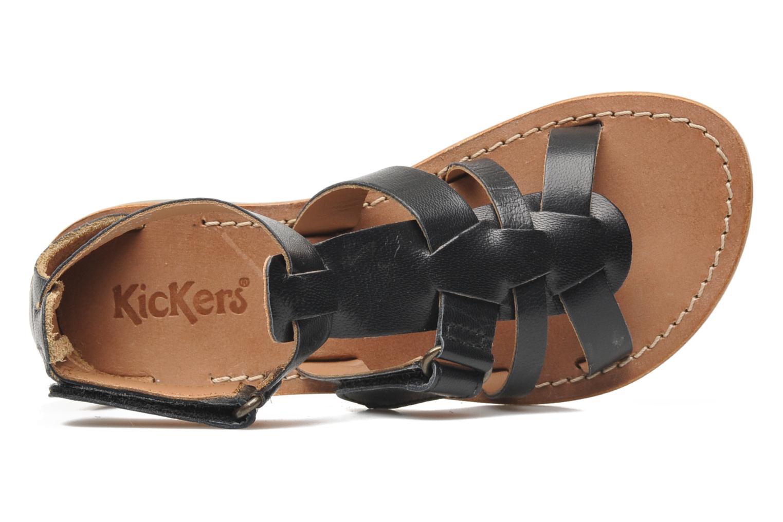 Sandalen Kickers Djack E Zwart links