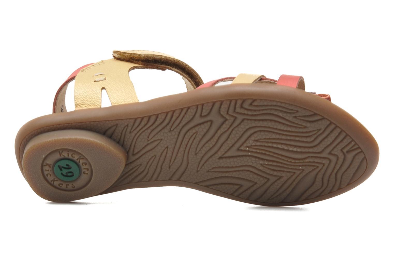 Sandales et nu-pieds Kickers Zephira E Multicolore vue haut