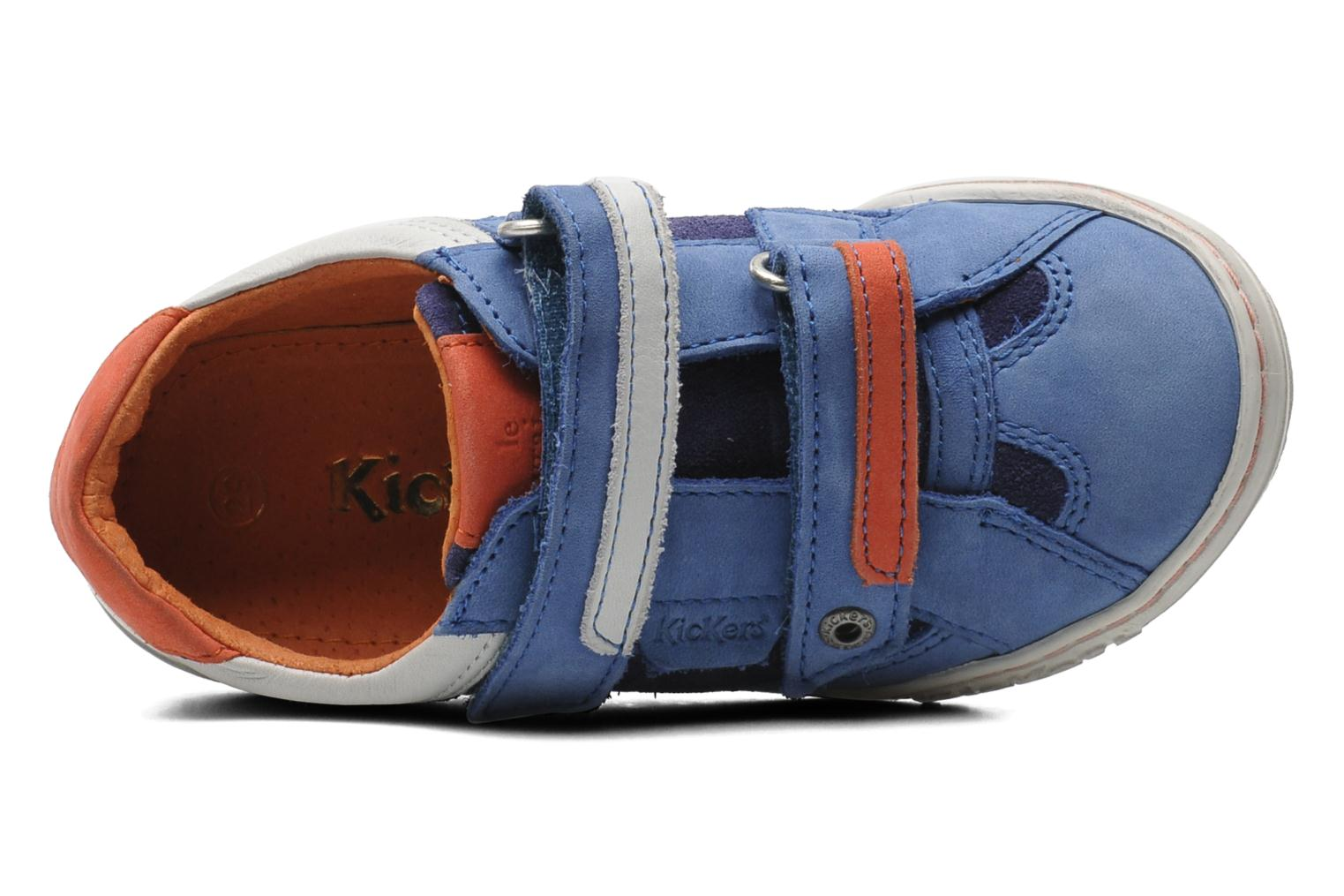 Sneakers Kickers Jingembre Blauw links