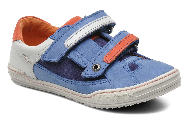 Sneakers Kickers Jingembre Blå detaljerad bild på paret