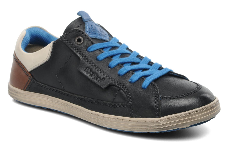 Sneakers Kickers Ambassy E Zwart detail