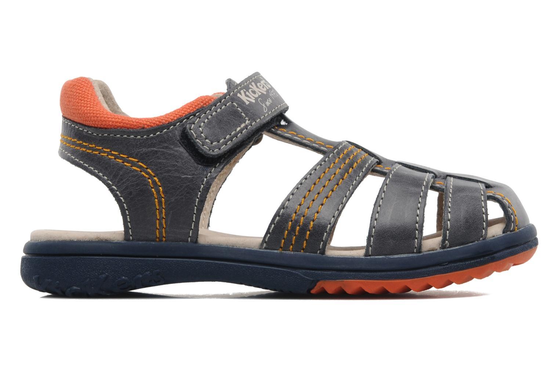 Sandalen Kickers Platinium blau ansicht von hinten