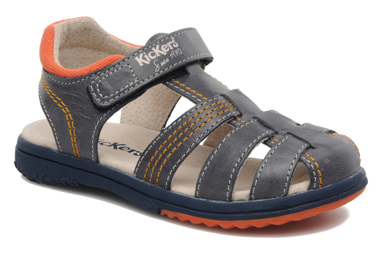 Sandalen Kickers Platinium blau detaillierte ansicht/modell