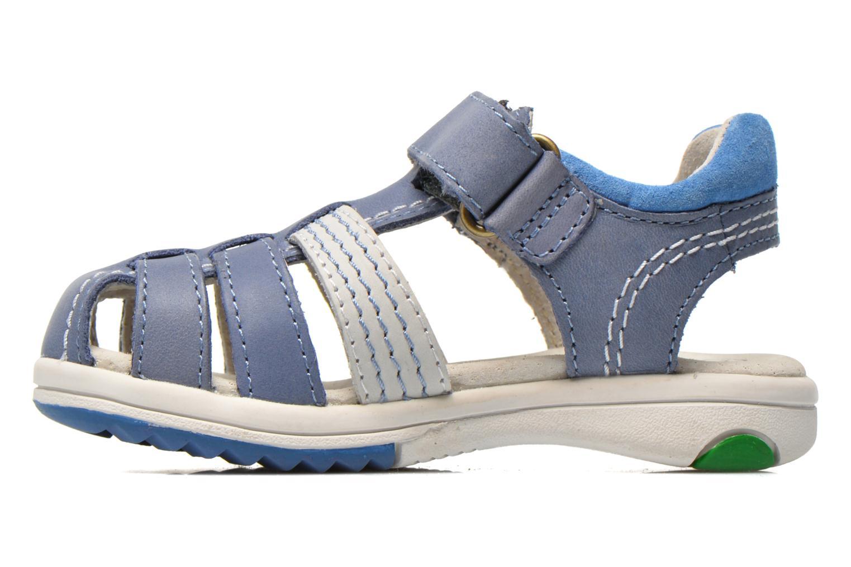 Sandalen Kickers Platinium blau ansicht von vorne