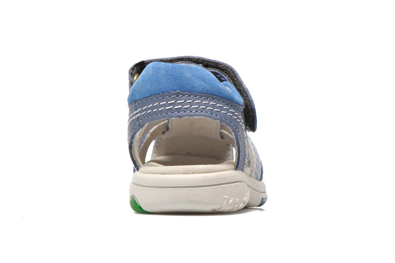Sandales et nu-pieds Kickers Platinium Bleu vue droite