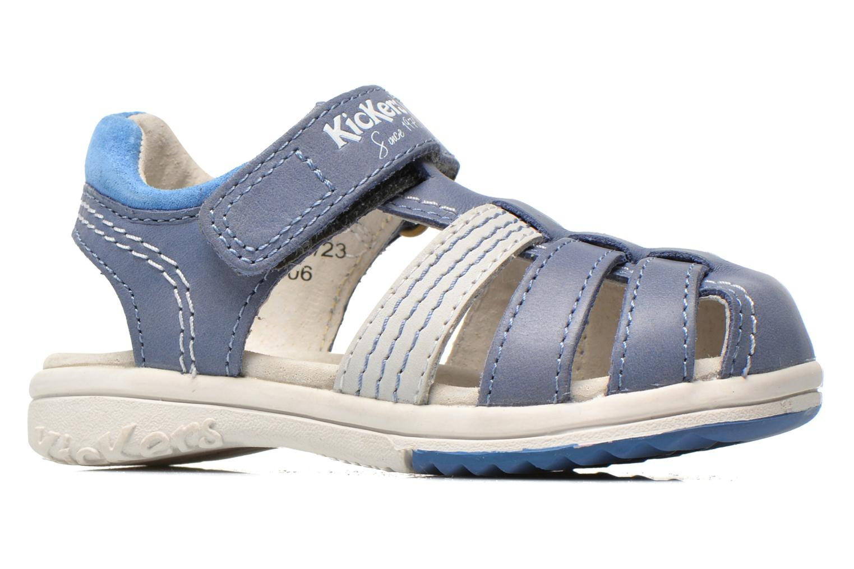 Sandalen Kickers Platinium Blauw achterkant