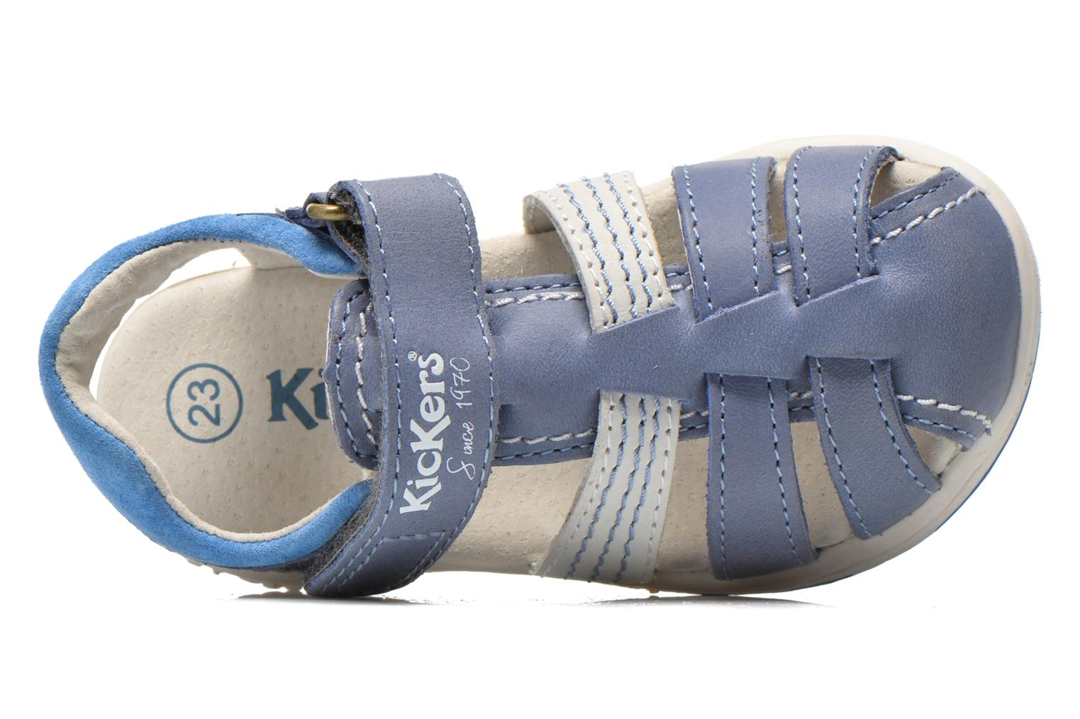 Sandalen Kickers Platinium Blauw links