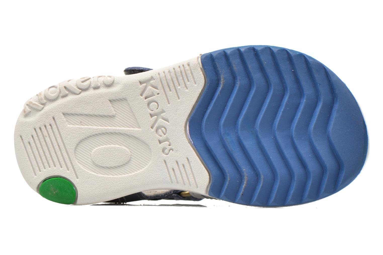 Sandalen Kickers Platinium blau ansicht von oben