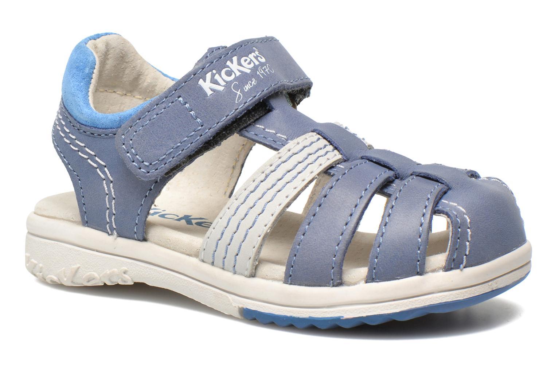 Sandalen Kickers Platinium Blauw detail