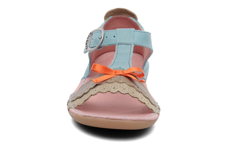 Sandalen Kickers Especial blau schuhe getragen