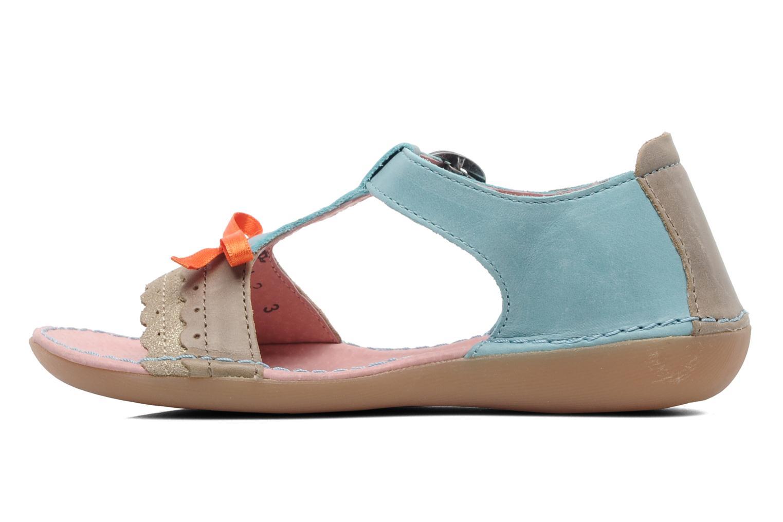 Sandalen Kickers Especial blau ansicht von vorne