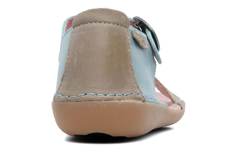 Sandales et nu-pieds Kickers Especial Bleu vue droite