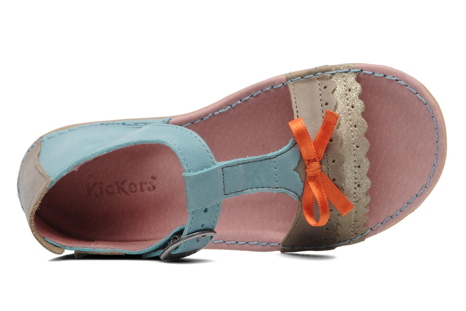 Sandalen Kickers Especial Blauw links